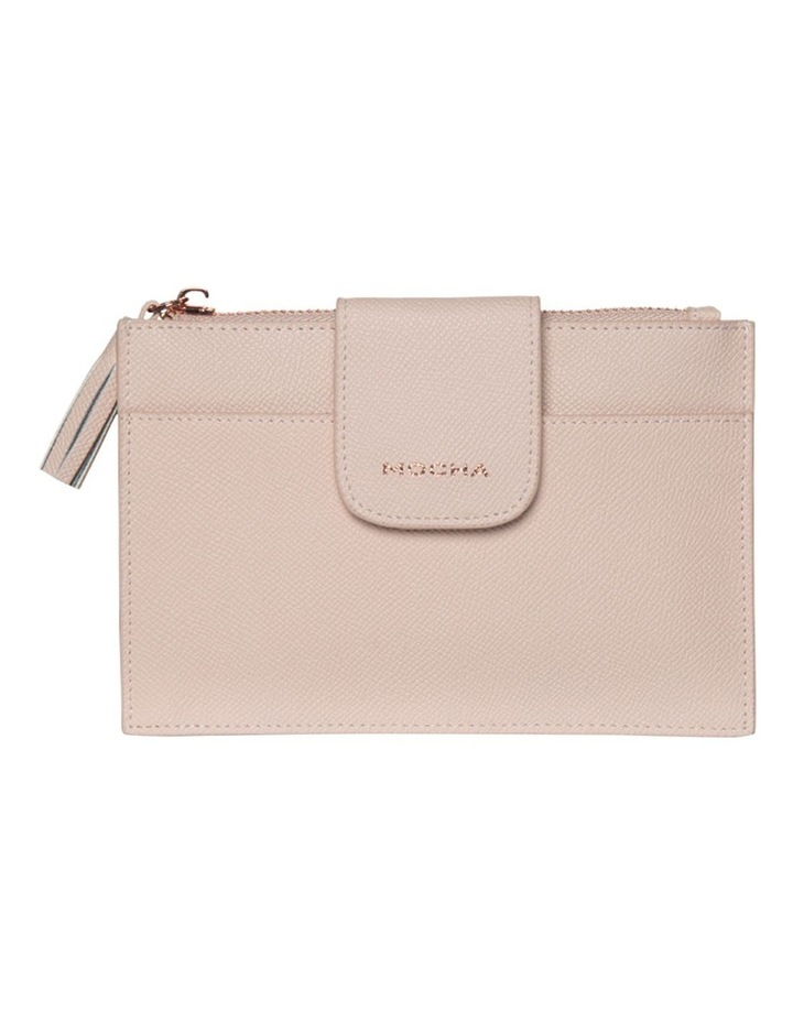 Tassel Clip Leather Coin Wallet - Blush image 3