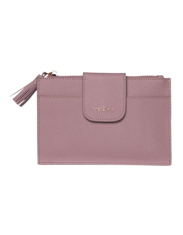 Tassel Clip Leather Coin Wallet - Rose image 1