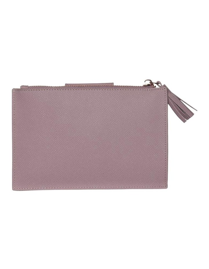 Tassel Clip Leather Coin Wallet - Rose image 2