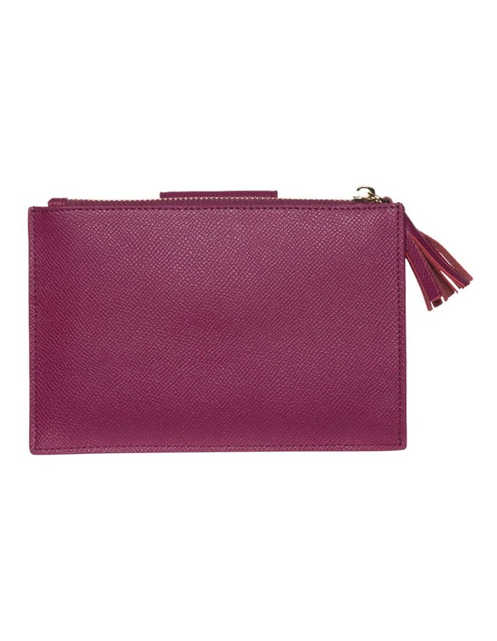 Tassel Clip Leather Coin Wallet - Fuchsia image 2
