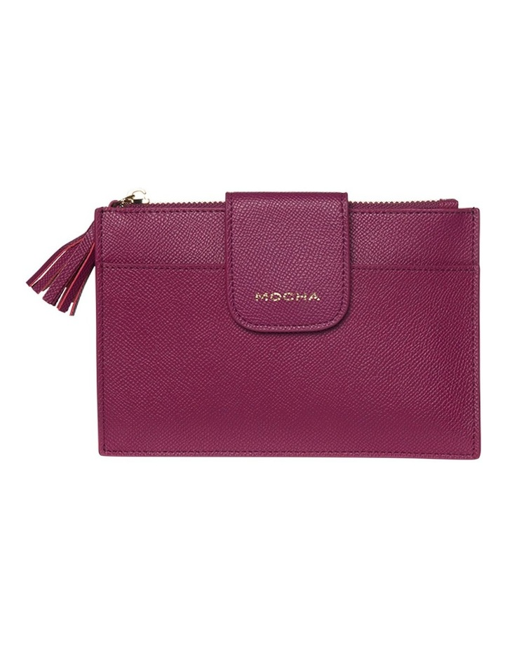 Tassel Clip Leather Coin Wallet - Fuchsia image 3
