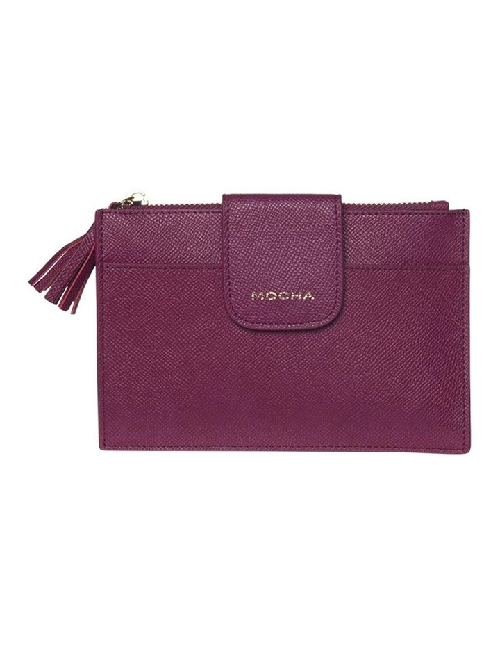 Tassel Clip Leather Coin Wallet - Fuchsia image 4