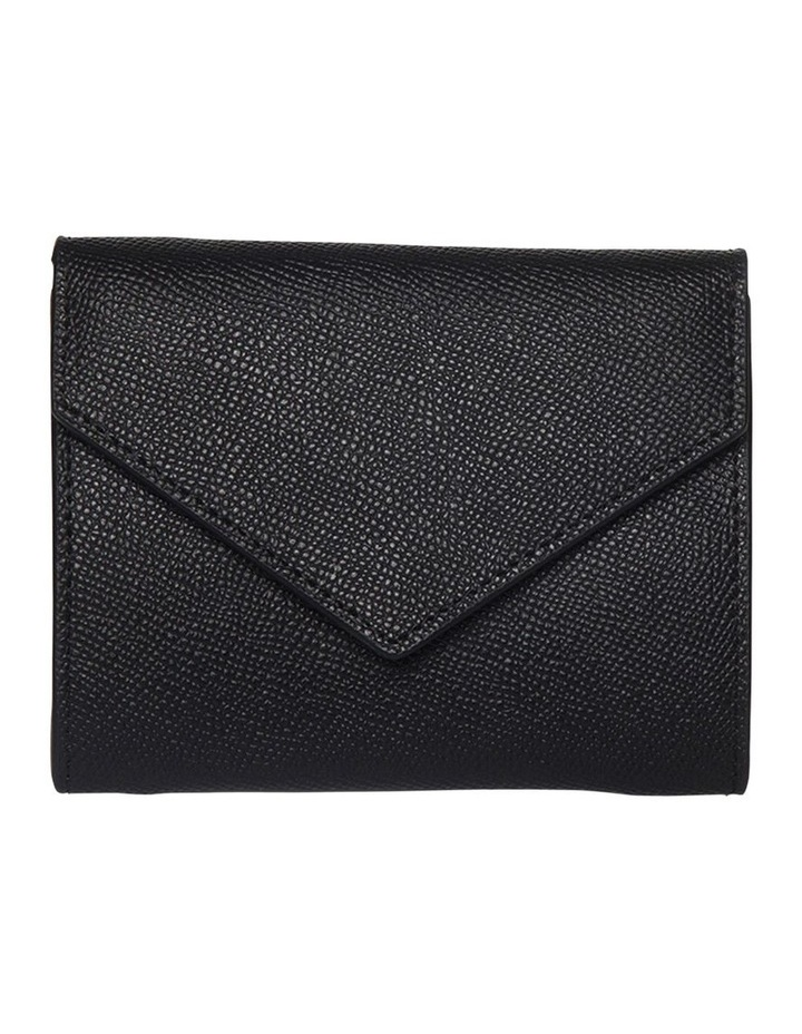 Envelop Leather Coin Wallet - Black image 1