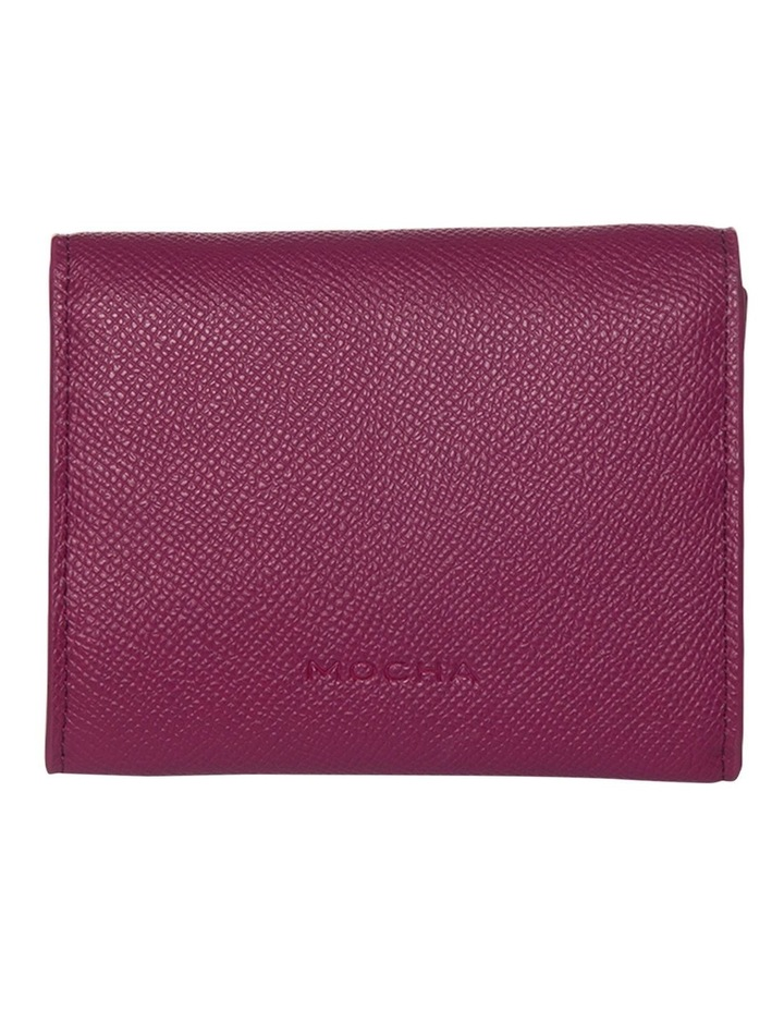 Envelop Leather Coin Wallet - Fuchsia image 1