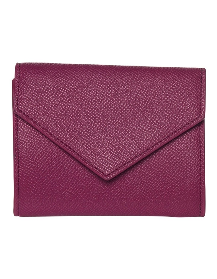 Envelop Leather Coin Wallet - Fuchsia image 3