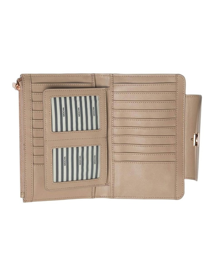Brianna Leather Wallet Taupe image 3
