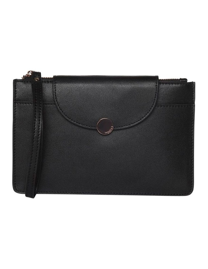 Brianna Leather Clutch Black image 1