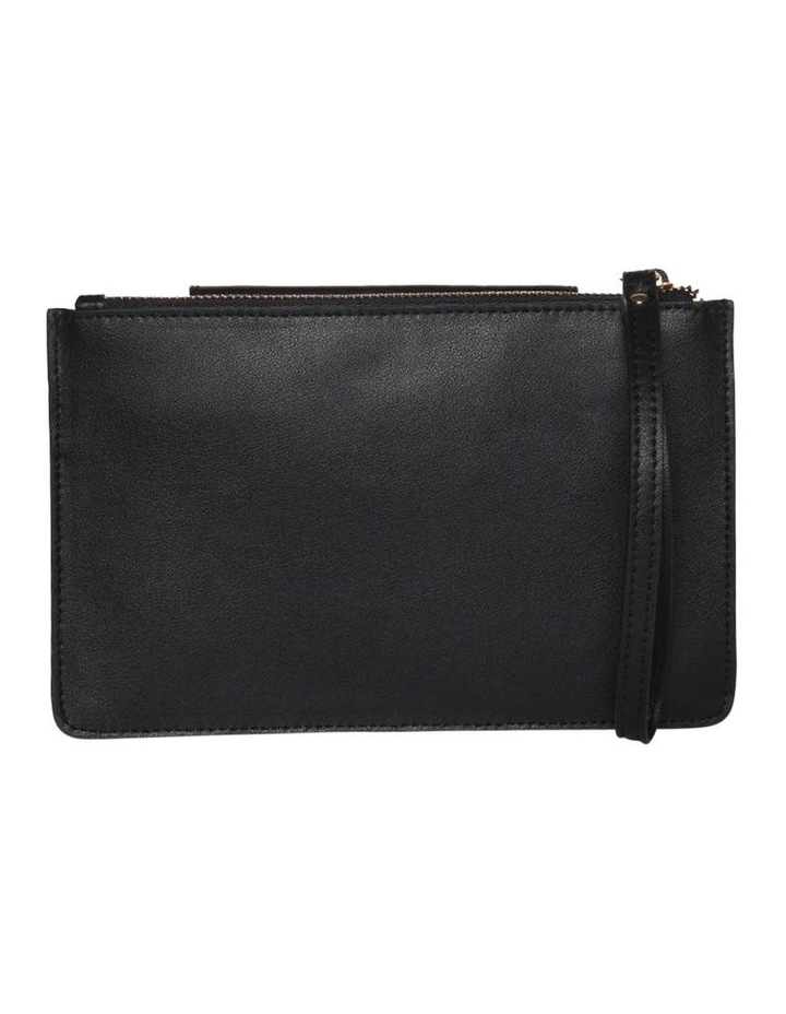Brianna Leather Clutch Black image 2