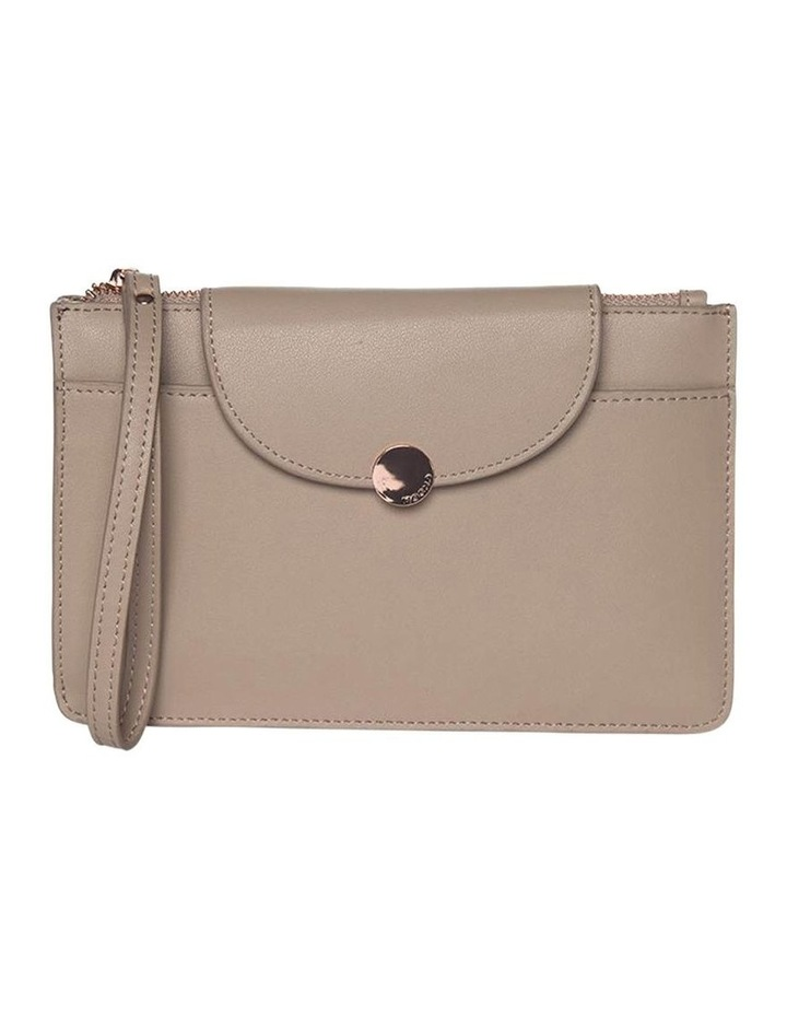 Brianna Leather Clutch Taupe image 1