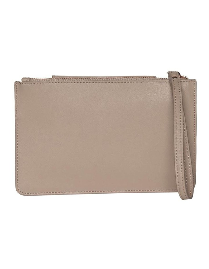 Brianna Leather Clutch Taupe image 2
