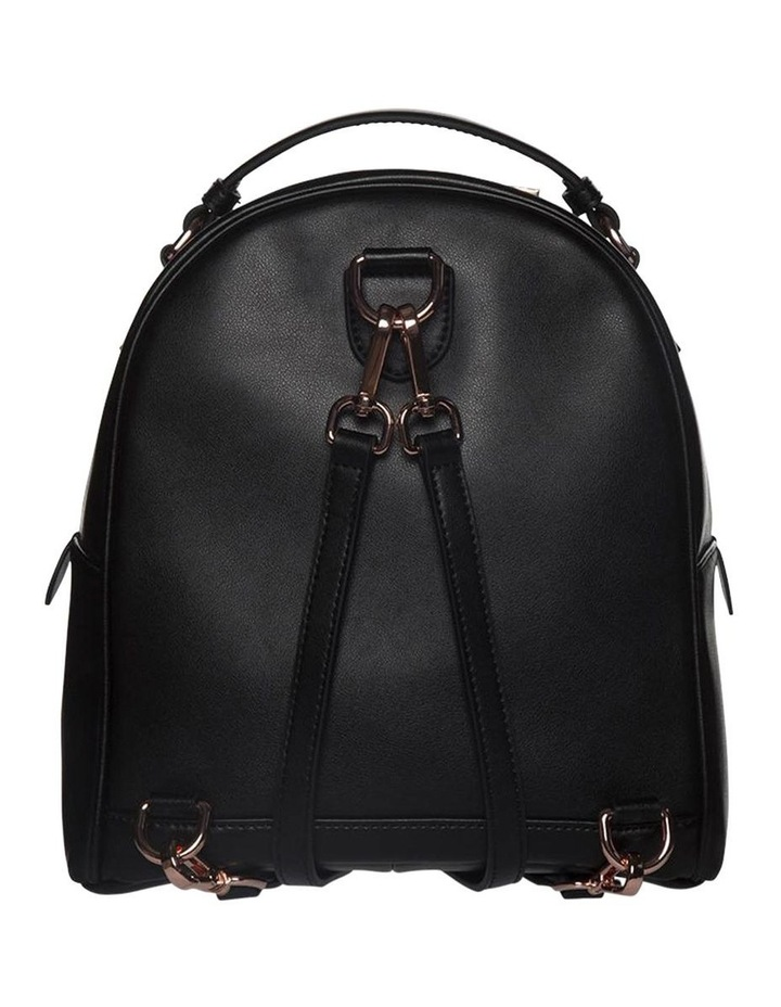 Chevron Shell Leather Backpack-Black/Rose Gold image 2