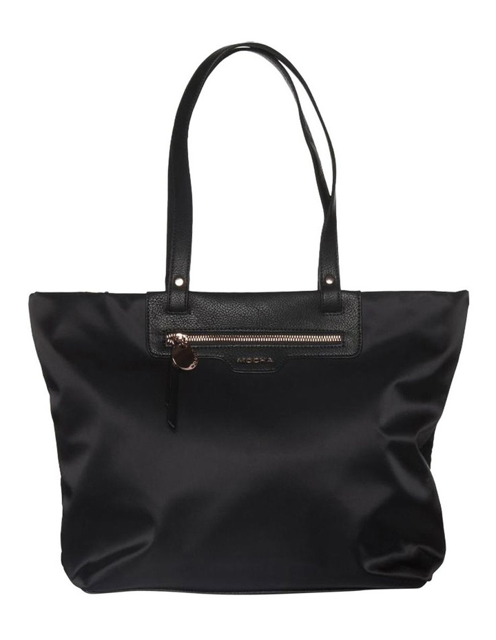 Kimi Top-Zip Tote Bag - Black/Rose Gold image 1