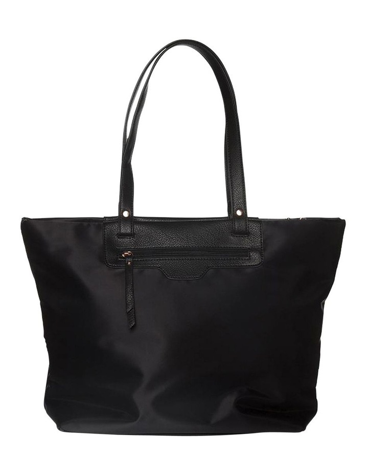 Kimi Top-Zip Tote Bag - Black/Rose Gold image 2