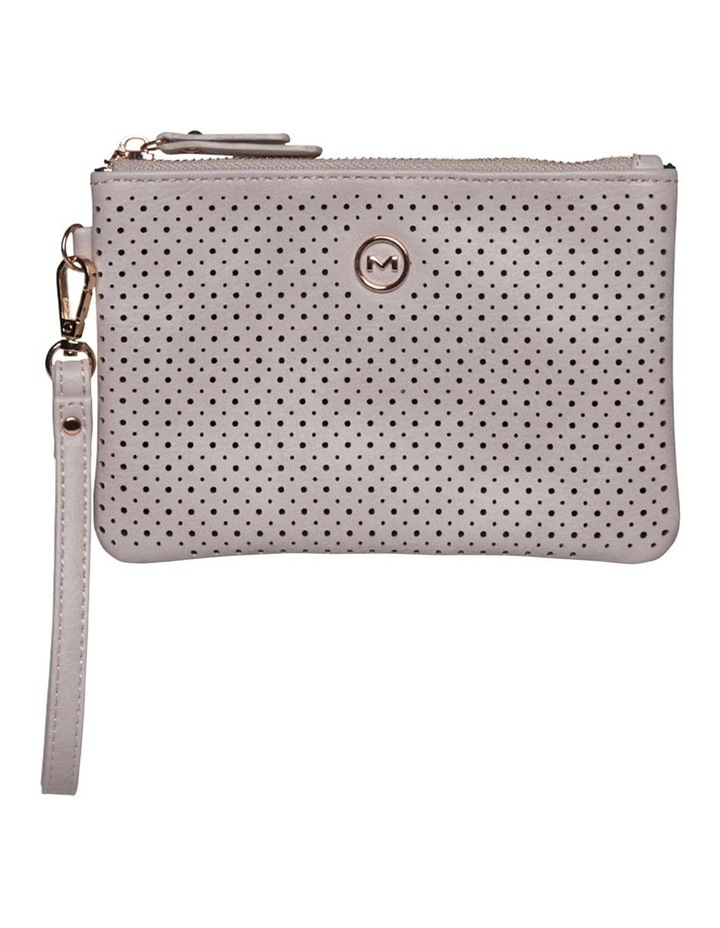Perforated Take Me Coin Wallet-Blush image 1