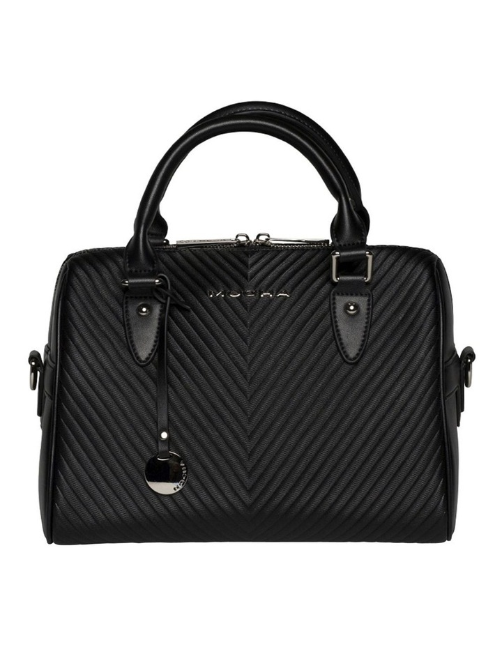 Chevron Boston Bag-Black image 1