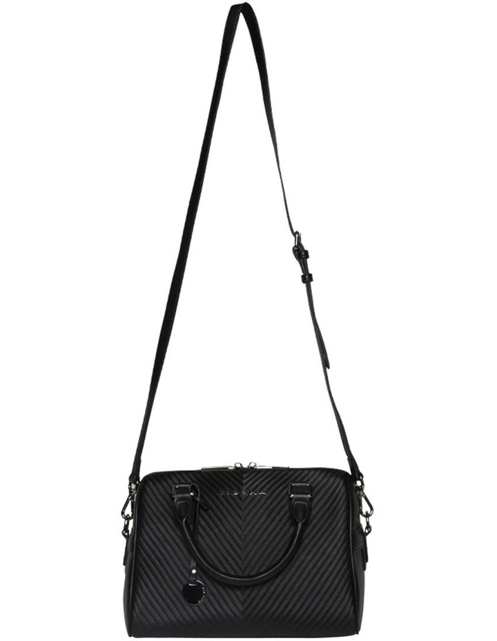 Chevron Boston Bag-Black image 2