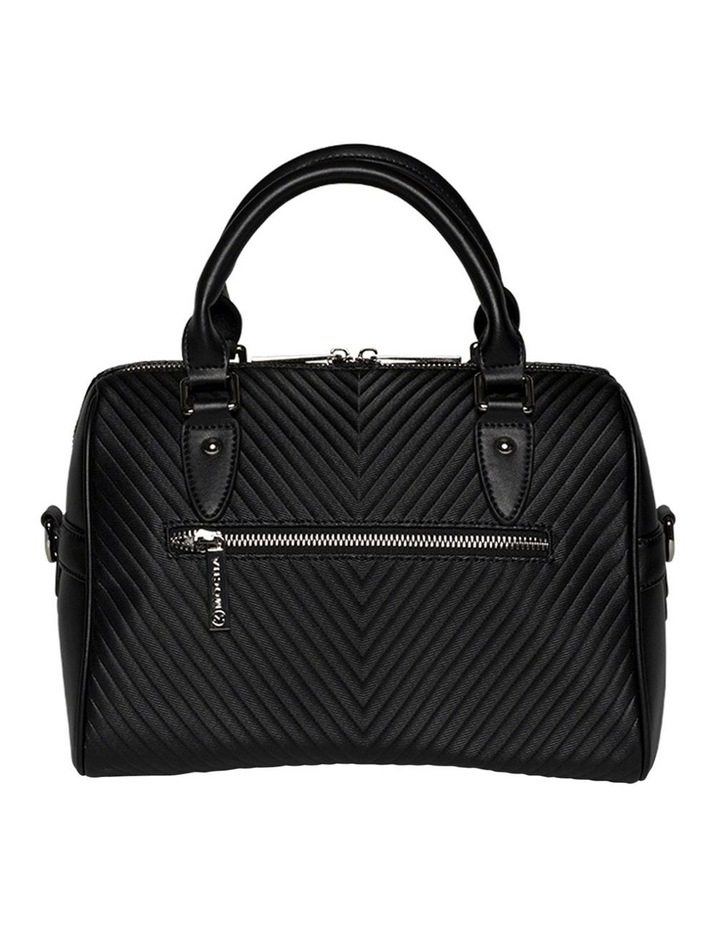 Chevron Boston Bag-Black image 3
