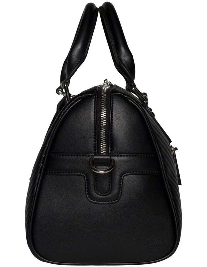 Chevron Boston Bag-Black image 4