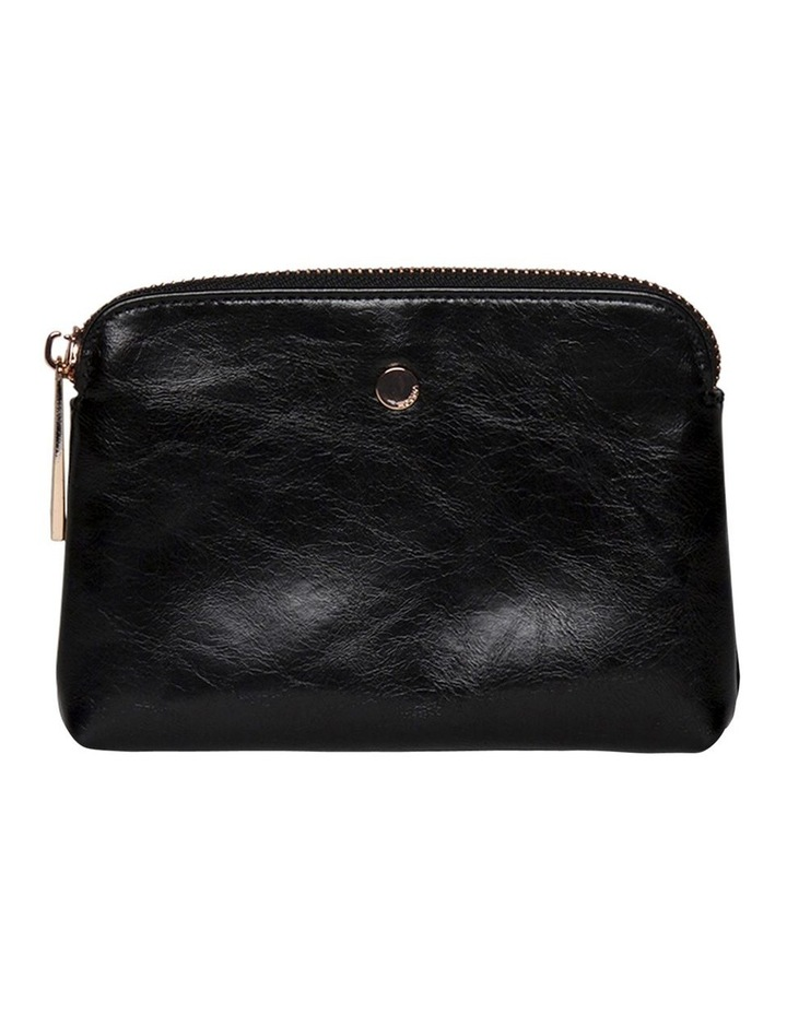 Sylvia Crinkled Patent Leather Coin Wallet - Black image 2