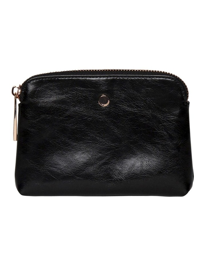 Sylvia Crinkled Patent Leather Coin Wallet - Black image 3