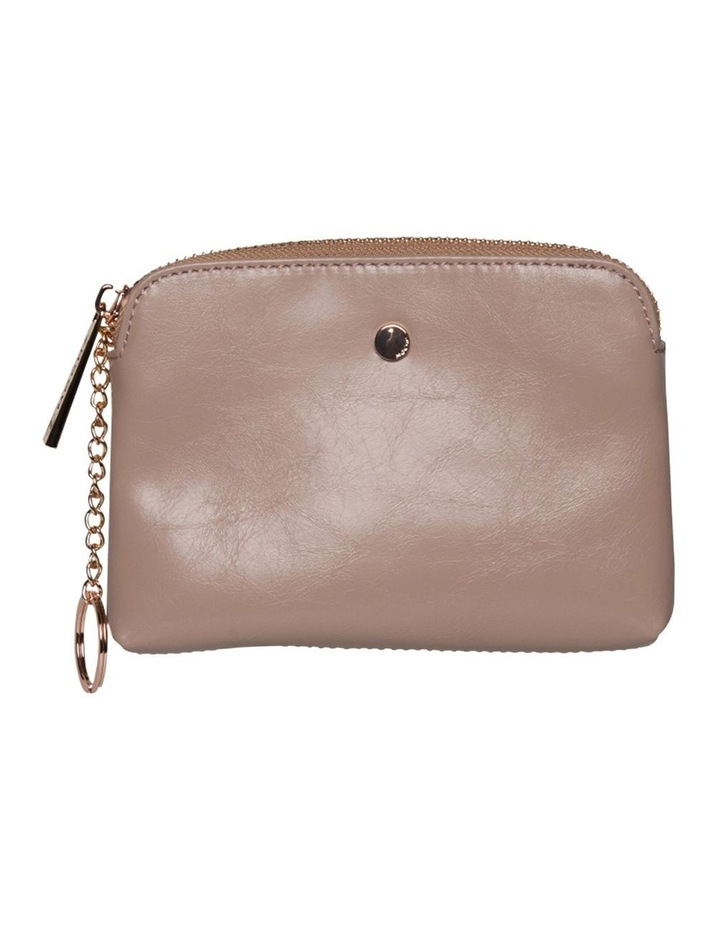 Sylvia Crinkled Patent Leather Coin Wallet - Blush image 1