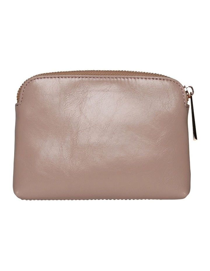 Sylvia Crinkled Patent Leather Coin Wallet - Blush image 3
