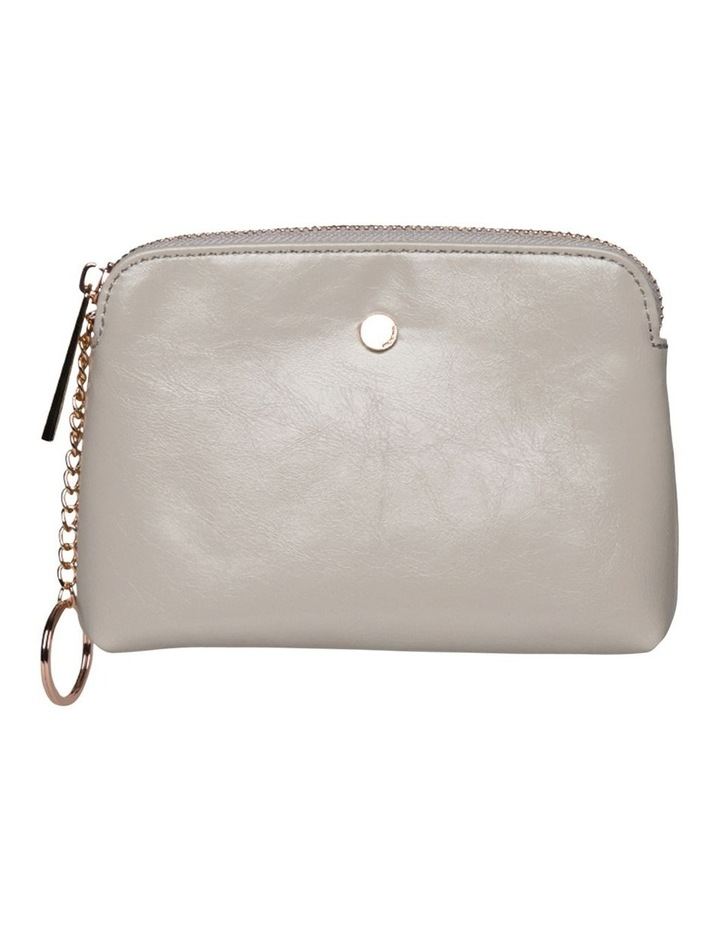 Sylvia Crinkled Patent Leather Coin Wallet - Grey image 1