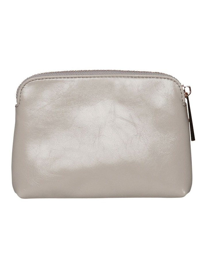 Sylvia Crinkled Patent Leather Coin Wallet - Grey image 3