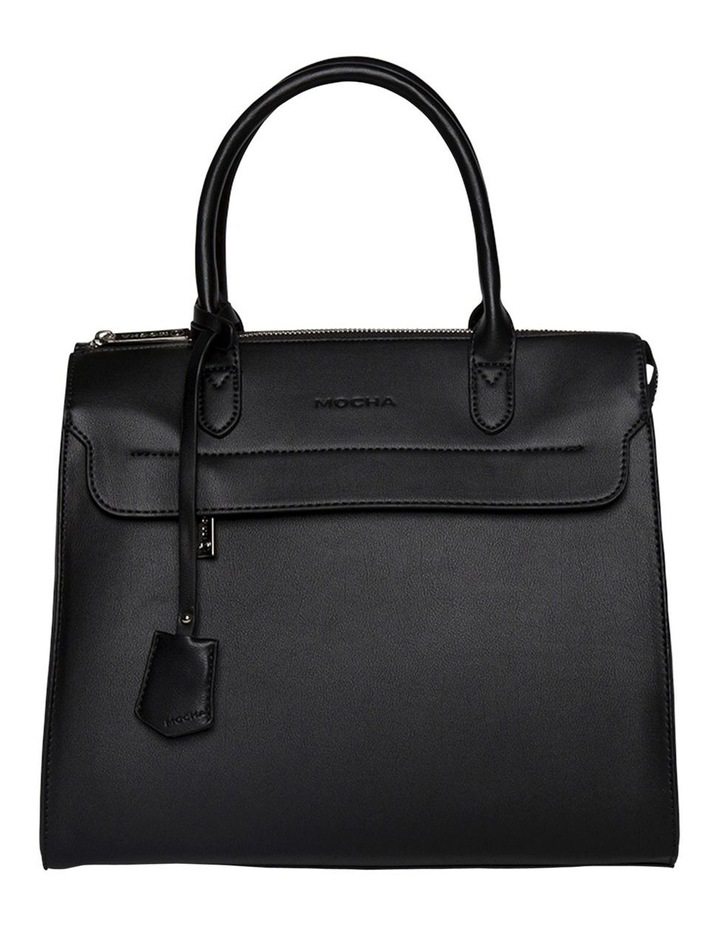 Constance Top Handle Tote Bag - Black image 1