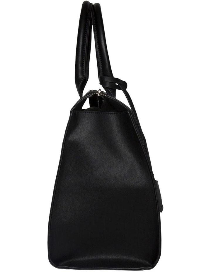 Constance Top Handle Tote Bag-Black image 3