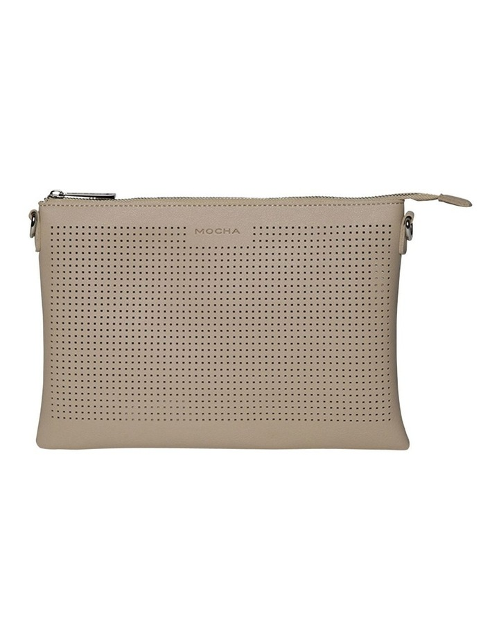 Elva Perforated Double Crossbody Bag - Sand image 1