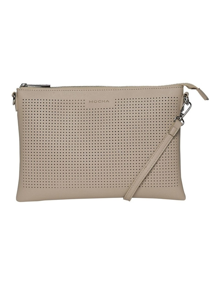 Elva Perforated Double Crossbody Bag - Sand image 2