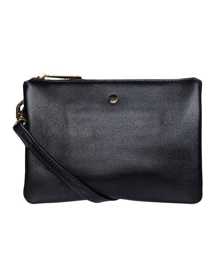 Stella Double Leather Crossbody Bag - Black image 1