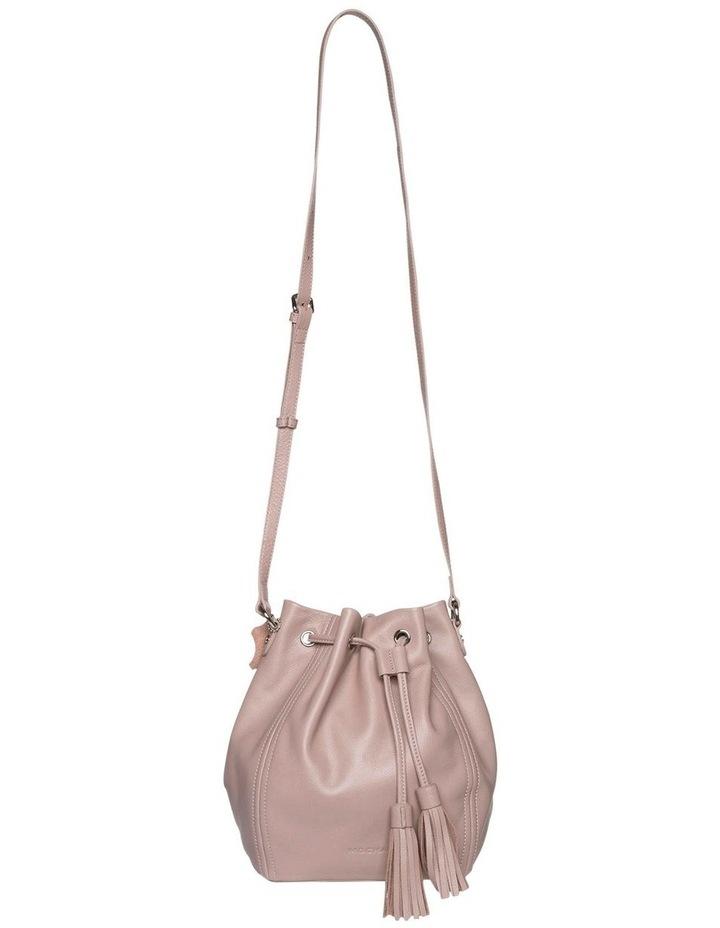 Tassel Leather Bucket Bag - Taupe image 1