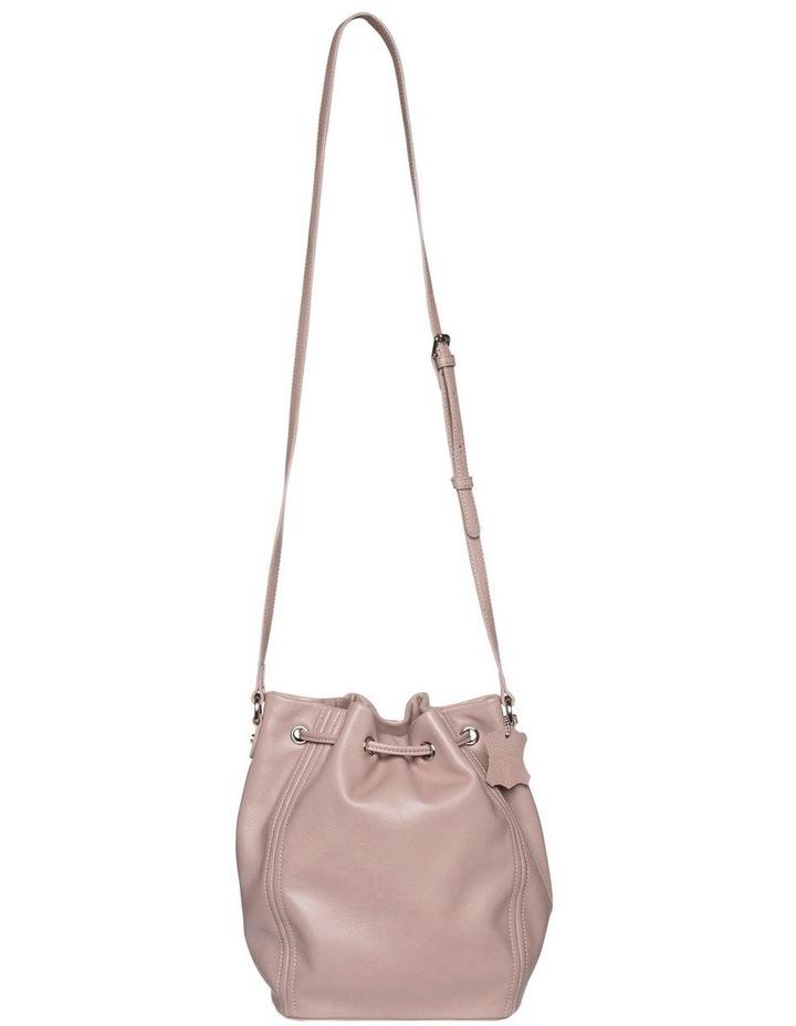 Tassel Leather Bucket Bag - Taupe image 2