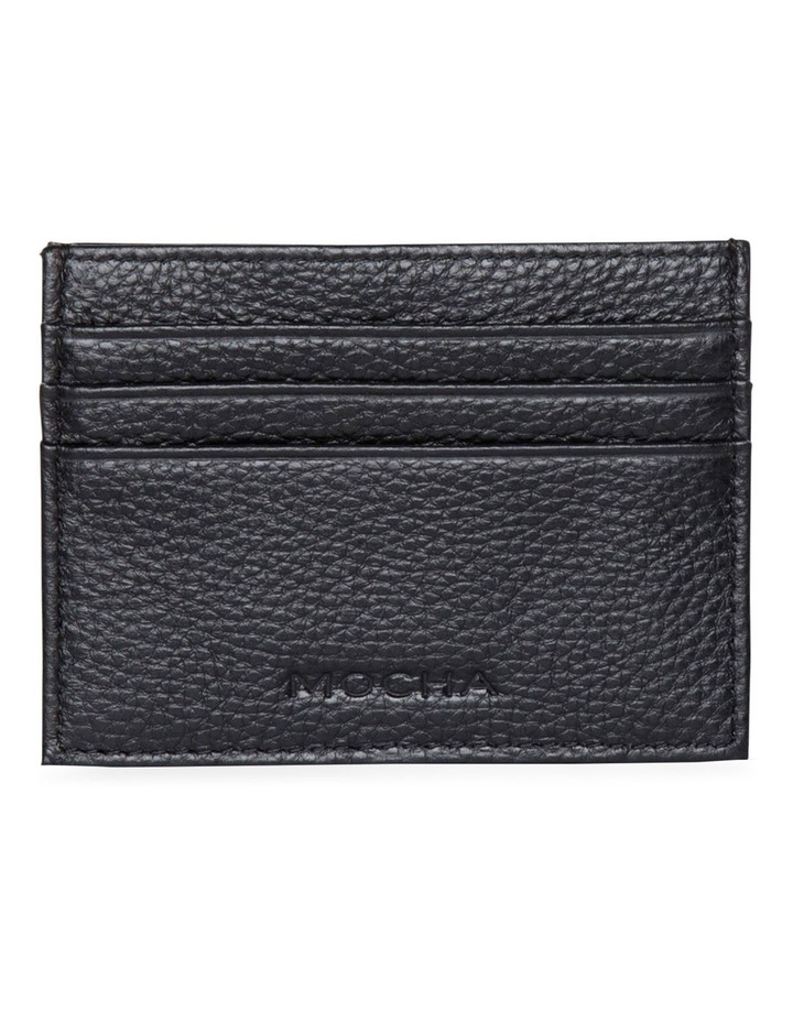 Leather Card Holder - Black image 1
