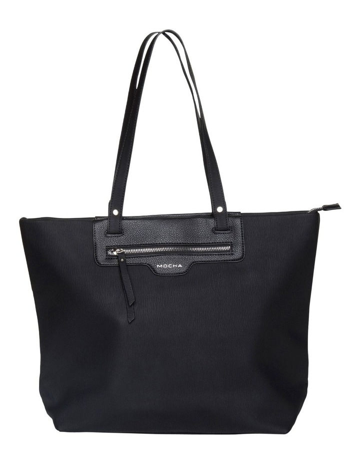 Ginni Top-Zip Tote Bag - Black image 1