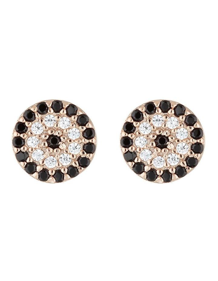 Lucky Stud Earrings-Rose Gold image 1