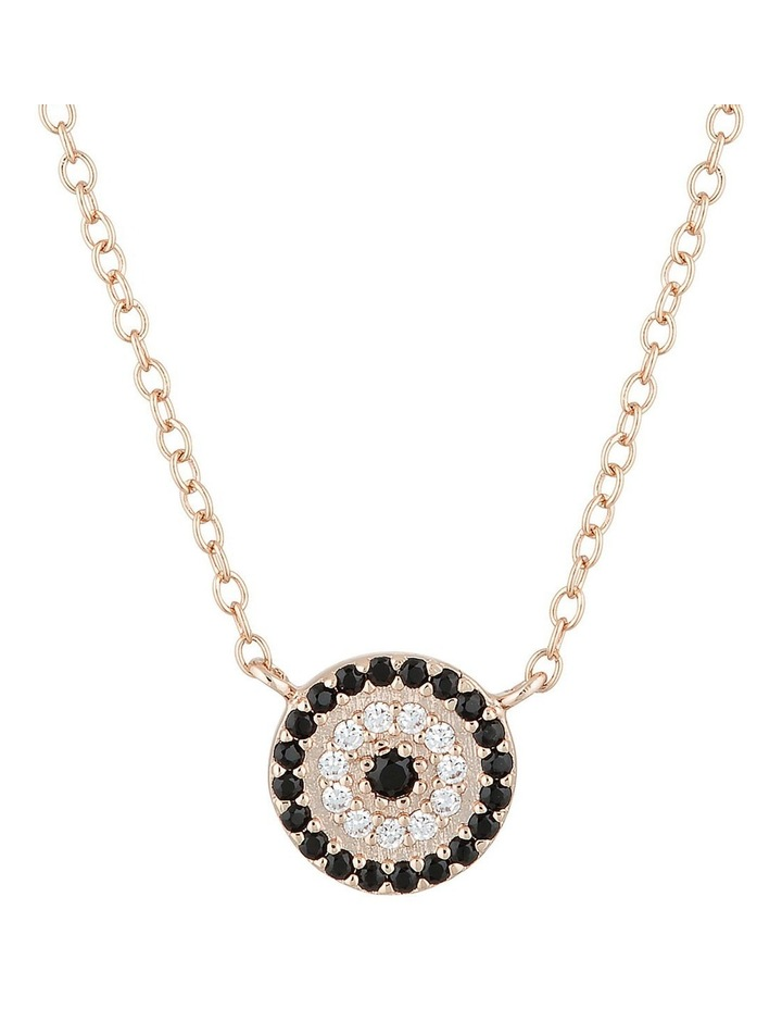 Lucky Sterling Silver Necklace w/ Cubic Zirconia - Rose Gold image 1