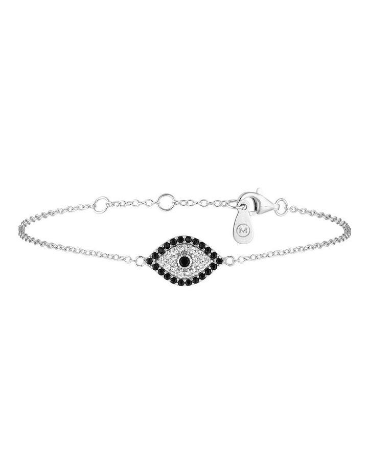 Evil Eye Bracelet-Silver image 1