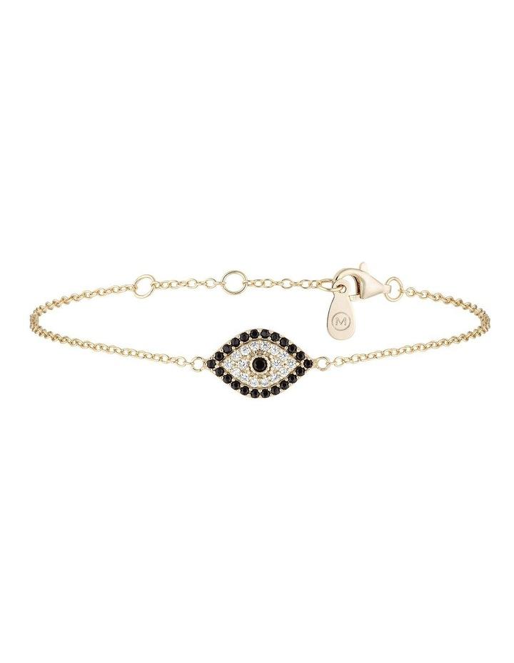 Evil Eye Sterling Silver Bracelet w/ Cubic Zirconia - Gold image 1