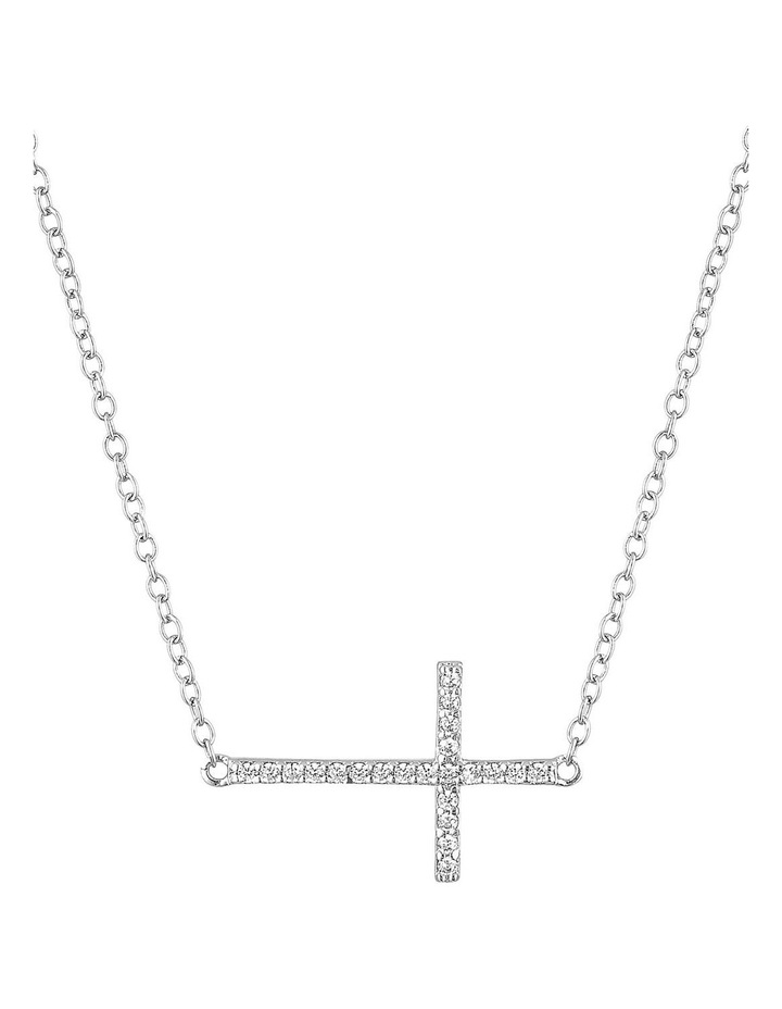 Cross Necklace-Silver image 1
