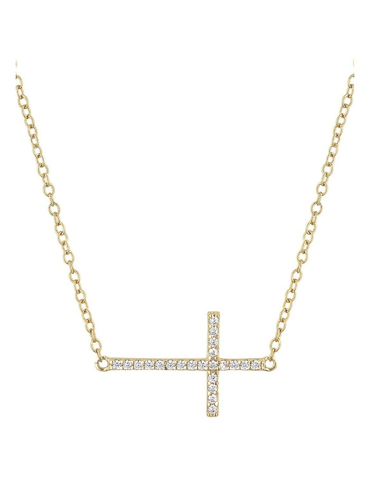 Cross Necklace-Gold image 1