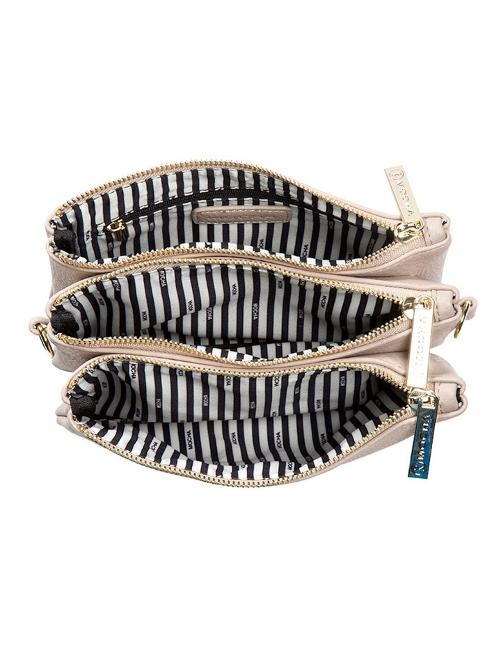 Mini Triple Jessie Crossbody Bags - Light Taupe image 4