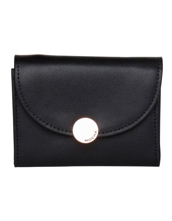 Brianna Leather Mini Coin Wallet - Black image 1