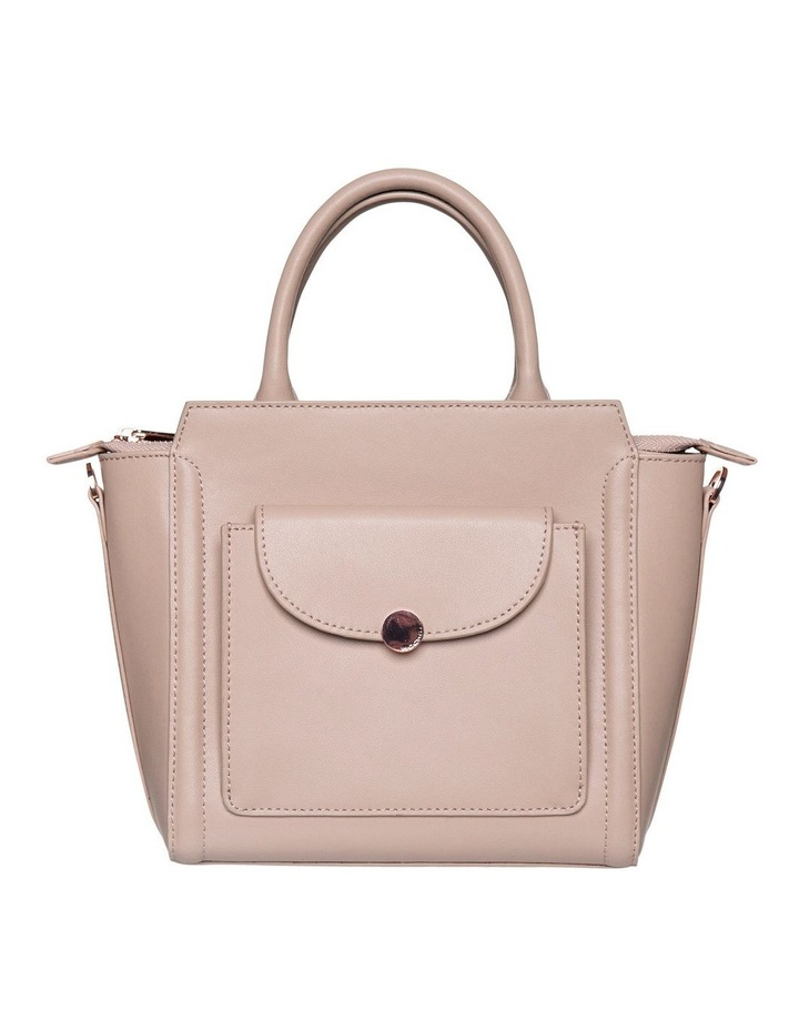 Brianna Top-Handle Leather Bag - Taupe image 1
