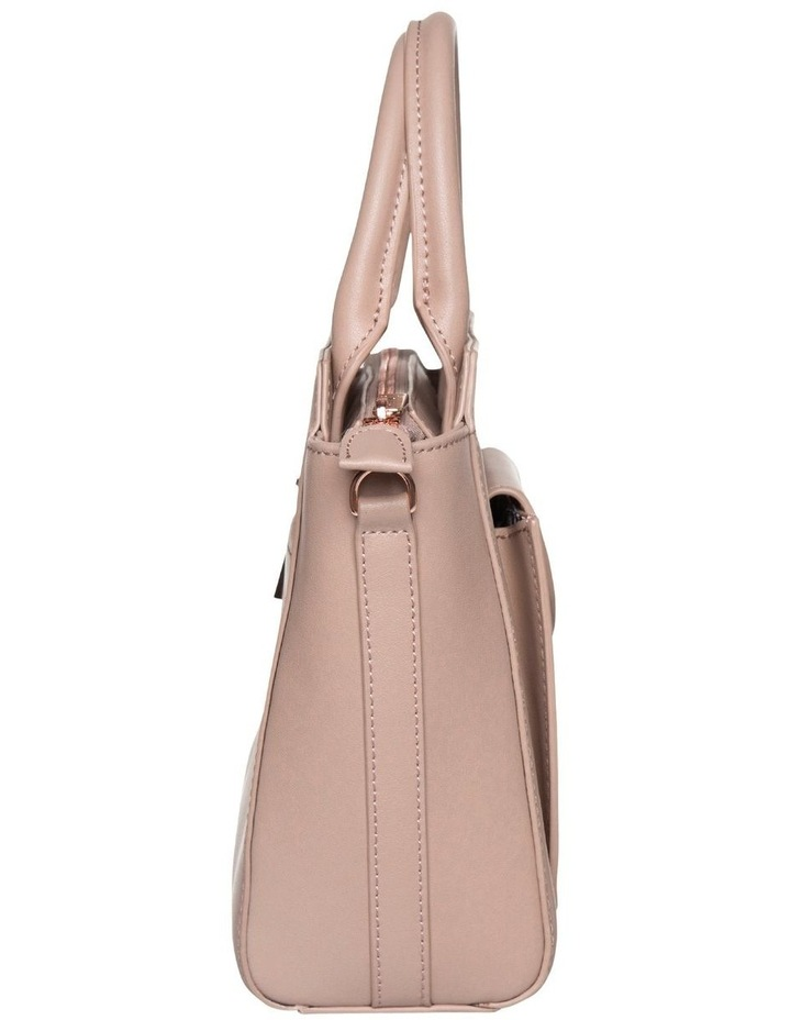 Brianna Top-Handle Leather Bag - Taupe image 3