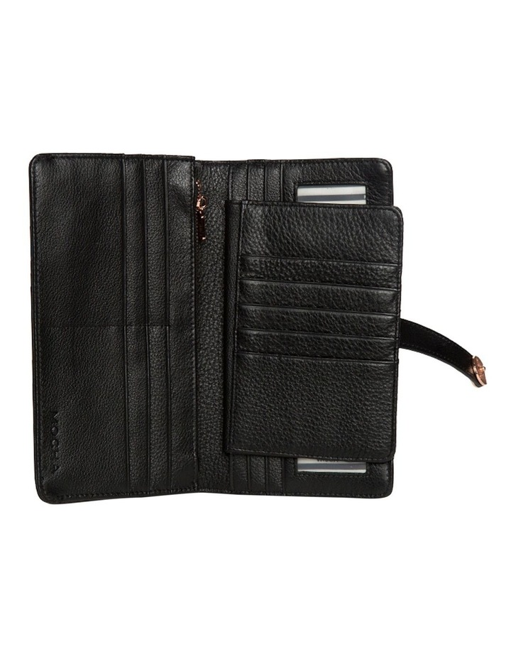 Chevron Clip Leather Wallet - Black image 2