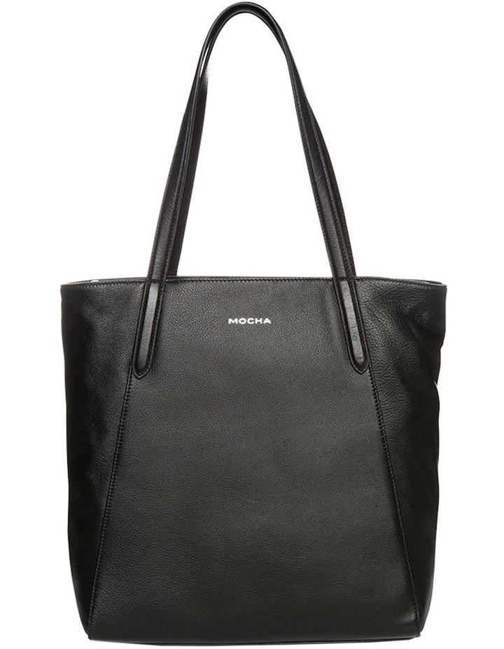 Oxford Leather Tote Bag - Black image 1