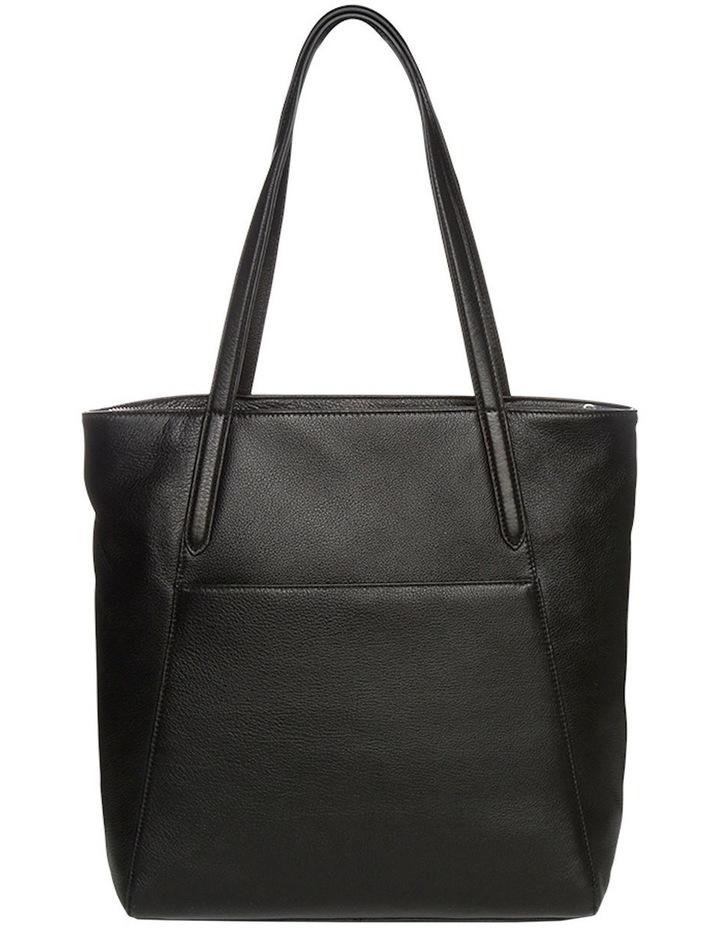 Oxford Leather Tote Bag - Black image 2